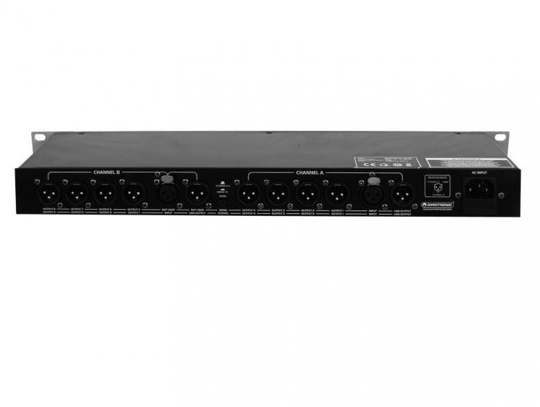 OMNITRONIC SD-28 on näppärä Audio signaalin split aktiivinen distributor,signaalin jako, jolla voit jakaa stereo signaalin neljälle eri vahvistimelle tai 8 mono signaalin kahdeksalle mono päätteelle tms.  8-way signal distributor, Signaalin 8-tiejakaja. Mitat 483 x 120 x 46 mm sekä paino 2,0kg.