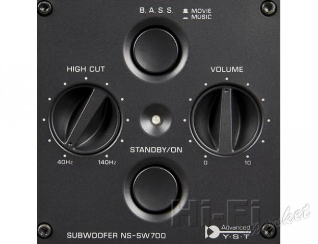 YAMAHA NS-SW700 Aktiivisubwoofer musta 300W pianolakattu, saatavilla myös valkoisena. Tämä tuote on DESIGN kaiutin!! Todella upea sekä hienosti viimeistelty ja pianolakattu musta subbari todella korkealla äänenpaineella ja laadukkaalla jakosuotimella. Mitat 406 x 445 x 406 mm  sekä paino 21,00kg.