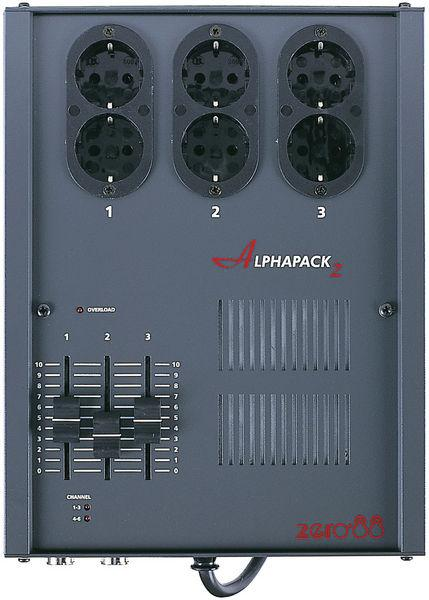 ZERO88 Alphapack 2, 3 channel portable dimmers with built in safety features, analogue and DMX control!