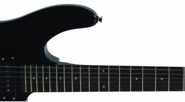 DIMAVERY DRG-69 Black Sähkökitara / Blue LEDs