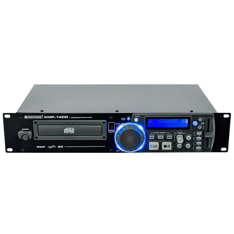OMNITRONIC XMP-1400 Single CD/MP3 player, Yksipesäinen MP3 CD soitin kaukosäätimellä! Korkealaatuinen CD-soitin CD/MP3, Helppokäyttöinen. Kappalevalinta sekä ohjelmointi skip/ search nappuloilla. Ohjelmointi mahdollista LOOP toiminnolla voit valita tietyn osan soitettavaksi. Nopeudensäätö +/- 4/8/16%. 19