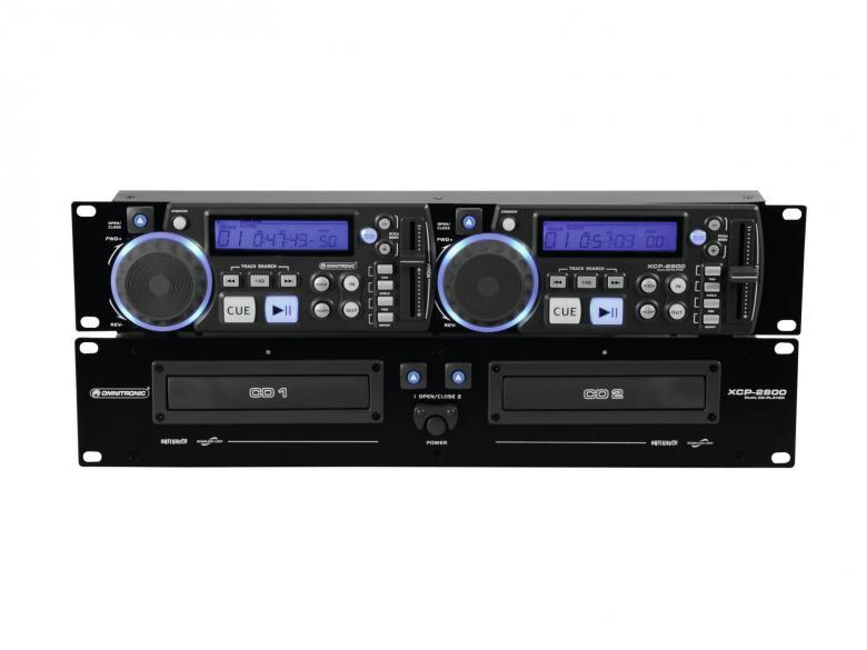 OMNITRONIC XCP-2800 Tupla CD-soitin, Soittimessa mukana kaikki tärkeimmät DJ- sekä kuntosalikäyttöön tarvittavat ominaisuudet. Loistava tuote myös musiikki-pubiin tai DJ käyttöön. Käyttökohteet: Hotellit, taustamusiikki, tiskijukat, pubit sekä monentyyppinen musiikin toistaminen.