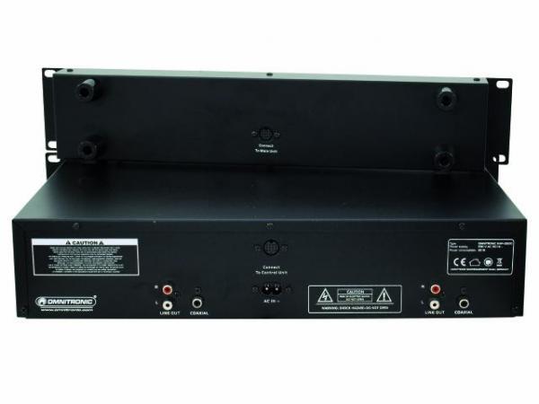 OMNITRONIC XMP-2800 tupla CD/ CD-R/CD-RW/MP3-soitin. Soveltuu loistavasti Dj-käyttöön, taustamusiikkiin, kuntosaleille, ravintoloihin. Nopeudensäätö ±4 %, ±8 %, ±16 %, 19