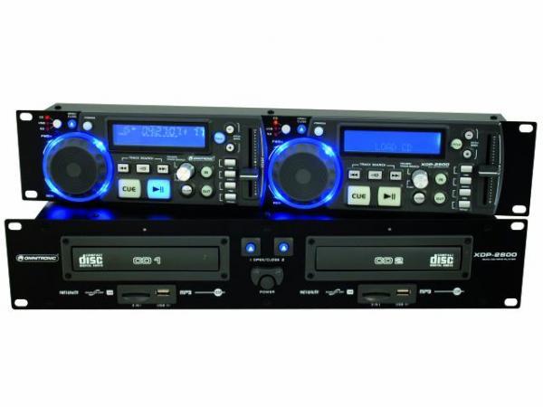 OMNITRONIC XDP-2800 tupla CD/ CD-R/CD-RW/MP3-soitin, USB-portti ja SD-korttipaikka. Soveltuu loistavasti DJ-käyttöön, taustamusiikkiin, kuntosaleille, ravintoloihin. Nopeudensäätö ±4 %, ±8 %, ±16 %, 19