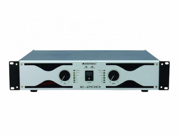 OMNITRONIC E-200 päätevahvistin 2x100W, discoland.fi