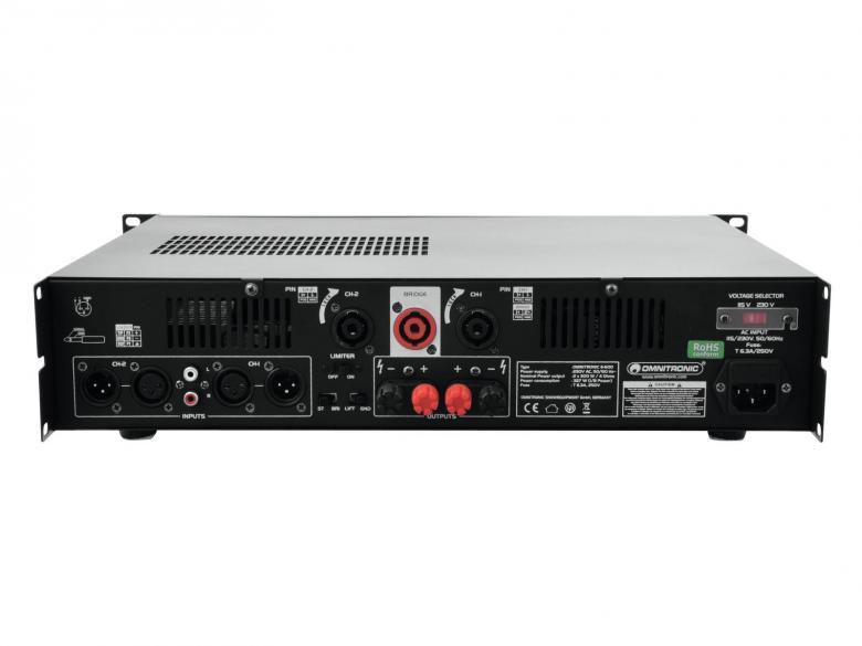 POISTO E-600 Amplifier 2x 300W 4ohm. Laadukas sekä tehokas päätevahvistin ammattimaiseen käyttöön. 19