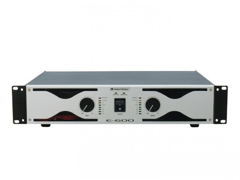 POISTO E-600 Amplifier 2x 300W 4ohm. Laa, discoland.fi