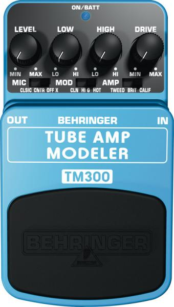 BEHRINGER Poisto!TM300 tube amp Modeler, Pedaali, Ultimate Tube Amp Modeling Effects Pedal