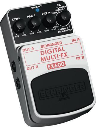 BEHRINGER Poisto!FX600 Digital Stereo Multi Efekti Pedaali, The ultimate FX machine!