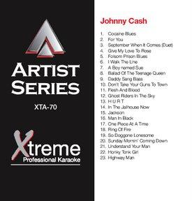 XTREME CD+G Xtreme Artist 070 - Johnny Cash karaoke CDG levyllä kappaleet:<br /><br /><br />