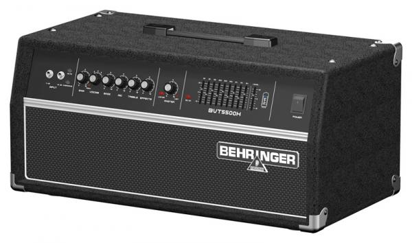 BEHRINGER ULTRABASS BVT5500H, Classic 550-Watt Bass Amplifier Head with VTC Tube Modeling and Voicing Selector