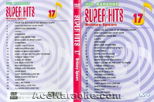 U-BEST Britney Spears, Super Hits English Songs Vol. 17 DVD Karaoke