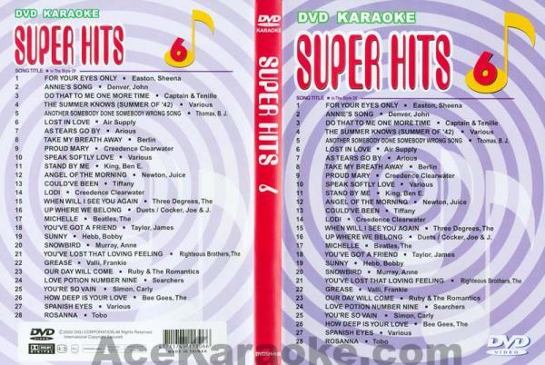 U-BEST Super Hits English Songs Vol. 6 D, discoland.fi