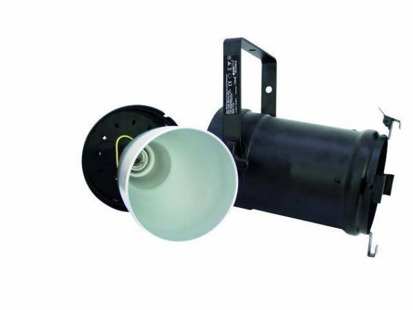 EUROLITE PAR-56 spot, cable & plug, E27lampuille, ota 105W energiansäästö ja tehoa piisaa!!!