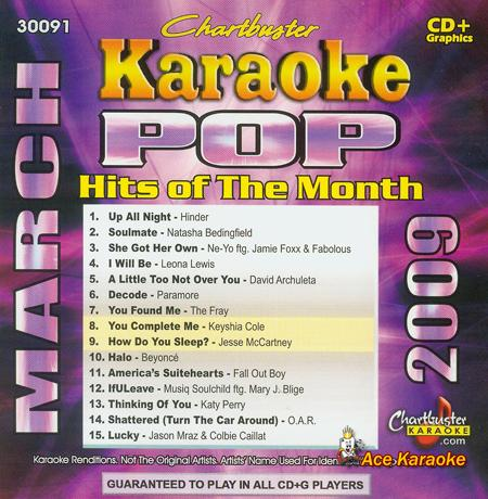 CHARTBUSTER  Chartbuster Karaoke CDG CB30091 - Pop Hits of the Month March 2009