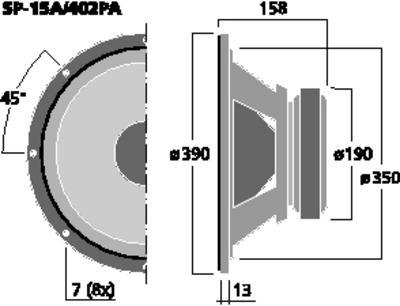 MONACOR SP-15A/402PA 15