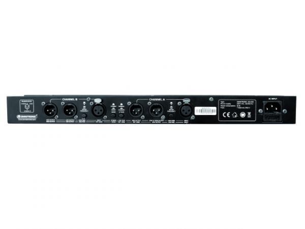 OMNITRONIC XO-23B Aktiivijakosuodin 2-tie stereo. 3-tie mono. Korkealaatuinen jakosuodin keikalle tai kiinteään asennukseen. Etupaneelissa jakotaajuuden säätö. Säätöalue on 45Hz- 9,5kHz.  mukana phase invert, low cut, xlr sisään ja ulos, valaistut nappulat sekä 19