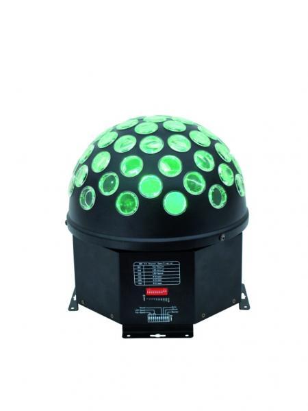 EUROLITE LOPPU!!LED B-16 5W Valkoinen LED DMX valoefekti mirror ball effect, LED Peilipalloefekti. Tämä tuote soveltuu loistavasti mm. clubeihin, discoihin, sisääntuloihin sekä kiertäville tiskijukille. Voit asentaa tuotteen kattoon, seinään, pöydälle tai telineeseen! Toimii musiikki ohjauksella omalla mikrofonillaan! 1x 5W tehokas LED valkoinen. Upea valoefekti joka todellakin korvaa peilipallon!