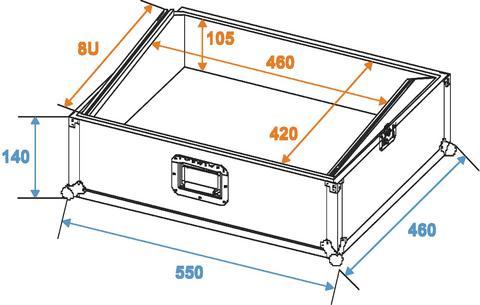 OMNITRONIC Kuljetuslaatikko MCB-19 viisto 8U, 19
