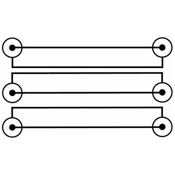OMNITRONIC CC-100 AV Cable, RCA-kaapeli  3x 3 RCA, 10m HighEnd. Laadukas ammattimalli paksua johtoa sekä laadukkaat liittimet.