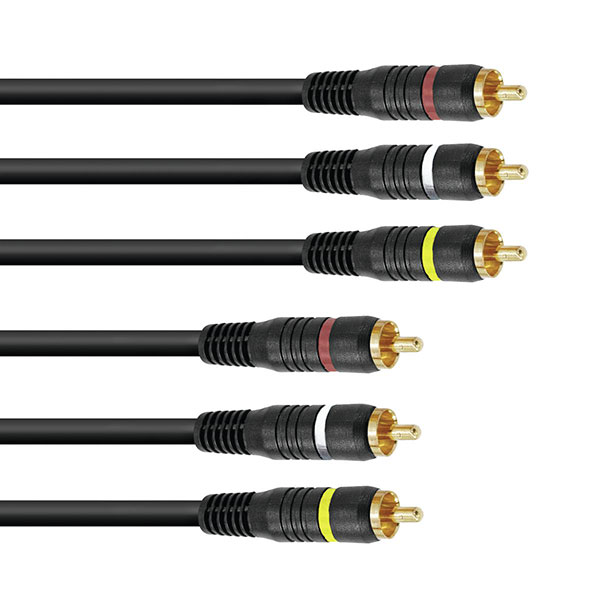 OMNITRONIC CC-100 AV Cable, RCA-kaapeli , discoland.fi
