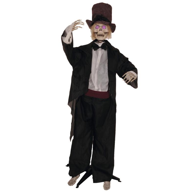 EUROPALMS Halloween hahmo seisova Charlie RGB LEDeillä, toimii paristoilla, korkeus 160cm sekä varustettu jalustalla.