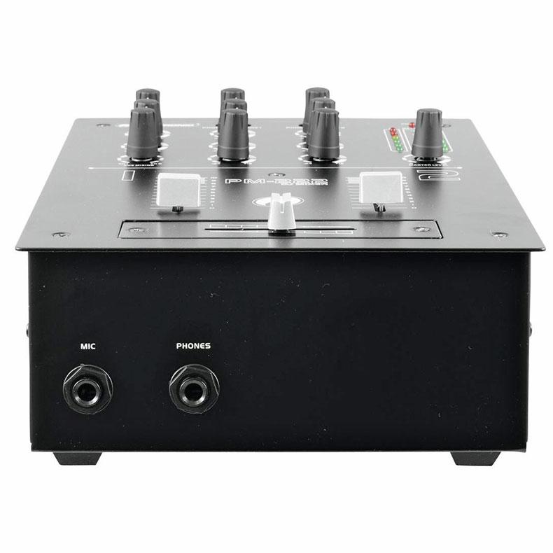 OMNITRONIC PM-222 2-kanavainen DJ mikseri 2x phono, 4x line, tone-control (bass, treble). Näppärä pieni DJ mikseri yleiskäyttöön. Tämä tuote soveltuu loistavasti kotikäyttöön sekä satunnaisesti keikkailevalle tiskijukalle tai vaikkapa Pub käyttöön, kun vain muutama ohjelmalähde! Mitat260 x 190 x 137 mm sekä paino 2,0kg.