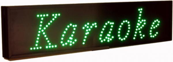 DLVS LED Karaoke Kyltti, Mahtavan Kirkas, discoland.fi