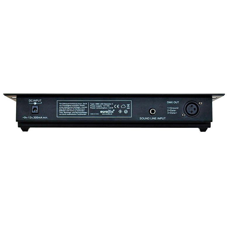 EUROLITE LED Operator 4 Kompakti DMX-ohjain on useille Eurolite valoille sopiva, LED-valoheittimille & LED-Bar:lle 50-kanavaa. Voidaan ohjata R, G, B sekä himmentää. Plug and play valmius lista tuotteista löytyy tuotekortilta.