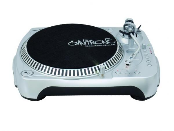 OMNITRONIC DRT-1000 Direct rec turntable, USB, SD, Levysoitin Hihnavedolla, Belt drive turntable with recording function and phono preamplifier!
