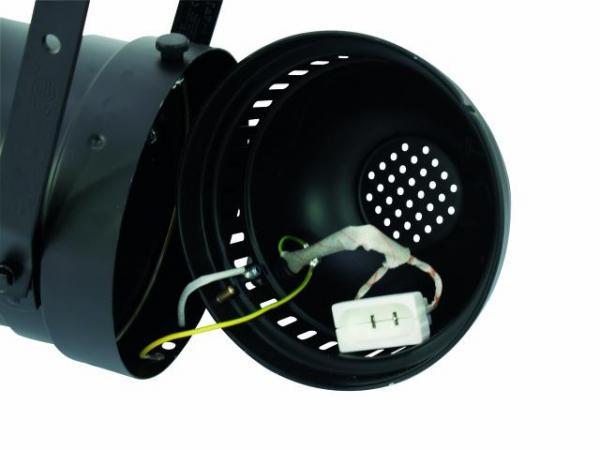EUROLITE PAR-64 Profi spot with cable & plug, alu, Pitkä PAR-64 Spotti, Alumiini, kaapelilla ja plugilla