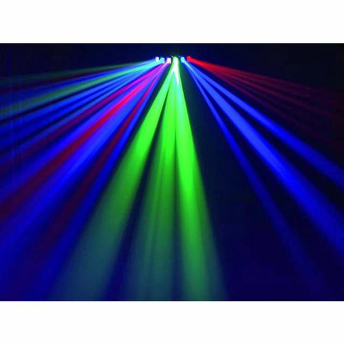 EUROLITE LED SCY-6 Led valoefekti RGB DMX. Laaja valaistuskulma kattaa 150° sektorin, RGB Värit. LEDeillä toimiva valoefekti. LEDeillä toimiva valoefekti Kuusi lasilinssiä. Master/ Slave voidaan kytkeä useita peräkkäin. 9-DMX kanavaa, Auto mode sekä musiikkiohjaus. Mitat 285 x 375 x 165 mm sekä paino 3,0kg