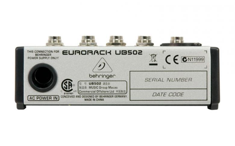 BEHRINGER Eurorack UB502 PA mikseri. pieni ja edullinen PA mikseri. • 1 mikrofonietuaste: State-of-the-art IMP