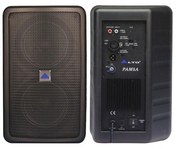 ALTO Pam5A Aktiivi monitori, 100Wrms, saatavilla mustana tai valkoisena! hinta/ kpl