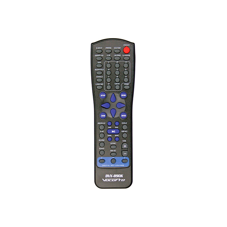 VOCOPRO DVX890K Karaokesoitin DVD USB SD- HDMI Multi-Format Digital Key Control DVD/DivX USB SD HDMI. Tukee DVD, DivX, VCD, CD+G, MP3, Photo CD ja CD/DVD+-R levyjä. Lukee USBia ja SD-, MMC-, MS-muistikortteja, HDMI-ulostulo, ±8 askeleen sävelkorkeudensäätö (transponointi) eli karaokesoitin kaikilla herkuilla + 2 kpl mikrofoneja! Teknisessä suunnittelussa lähdimme siitä tosiseikasta, että kaikki tärkeimmät ohjausnäppäimet ja säätimet tulisivat sijaita laitteen etupaneelissa. Sieltä löytyvätkin mm. sävelkorkeuden säätö, biisien suoravalinta, mikrofonien äänenvoimakkuuden sääätö, audio- ja kaikusäätimet. Enää et siis välttämättä tarvitse kaukosäädintä soittaaksesi mielibiisejäsi karaokelevyiltä. Tarvitsetpa soitinta karaoken laulamiseen tai elokuvien katseluun. DVX-890K on oikea valinta miellyttävään harrastamiseen.
