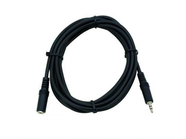 OMNITRONIC Extension Cable, Plugi-jatkokaapeli Jack Plug male 3,5mm stereo to Jack Plug female 3,5mm stereo, 6m, black
