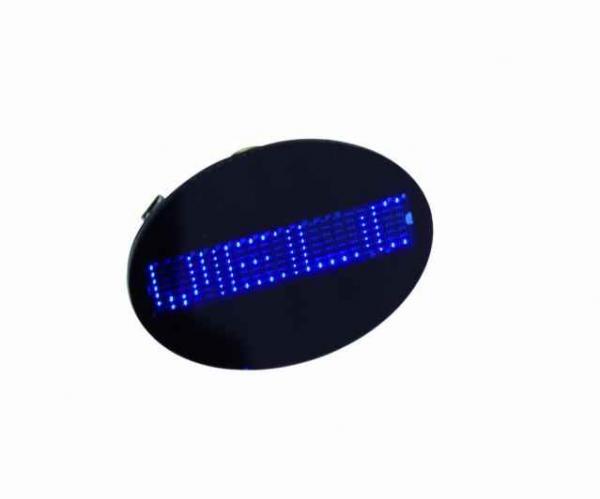 EUROLITE LOPPU! LED Rintanappi Badge blu, discoland.fi