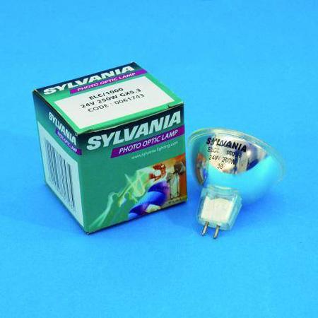 SYLVANIA ELC 24V/250W GX-5,3 1000h 50mm, Yleisimpiin valoefekteihin sekä projektoreihin, loistava valinta, kun et halua vaihtaa jatkuvasti lamppua! Photo Optic Lamp.