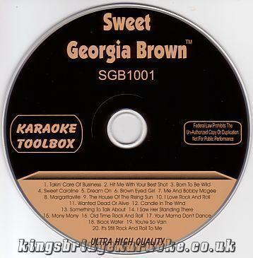 KARAOKE CDG Sweet georgia brown karaoke CDG grafiikka levy, ROCK CLASSICS!!