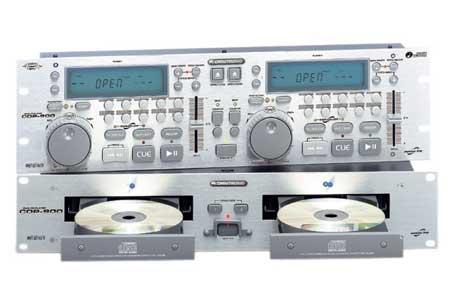 OMNITRONIC DEMO: CDP-900 Tupla CD- soitin, Hopea, Professional Dual-CD-player, silver, antishok