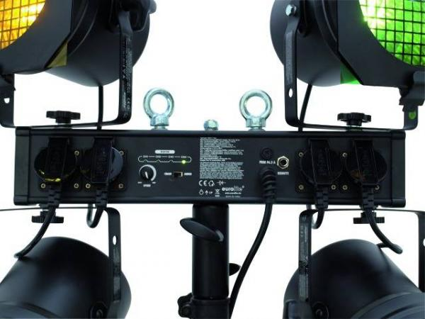 EUROLITE KLS-10 ECO-lightset! Täydellinen toimiva pieni perusvalosetti dj/ bile käyttöön!