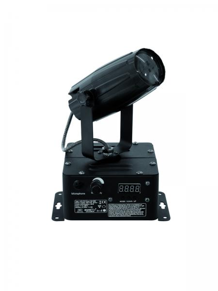 EUROLITE LED PST-3W Rotatable spot, Pivotable, DMX-controlled LED pinspot, LED Pinspotti, 3W DMX 6000K 6°