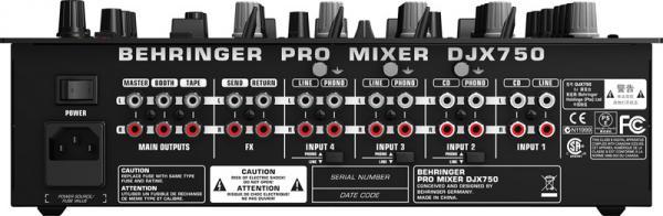 BEHRINGER PRO MIXER DJX750 DJ mikseri on erityisesti DJ-käyttöön suunniteltu 5-kanavainen mikseri omilla 24-bittisillä digitaaliefekteillä, XPQ 3D -surround toiminnolla ja BPM-laskurilla. Mikserin 45mm Ultraglide-liukupotentiometrit on rakennettu kestämään 20 kertaa pidempään kuin tavalliset liu'ut ja mikserin VCA on täysin suojattu säädinten mekaanisia häiriöitä vastaan ja liu'ut tarjoavat sille vain ohjausjännitteen.