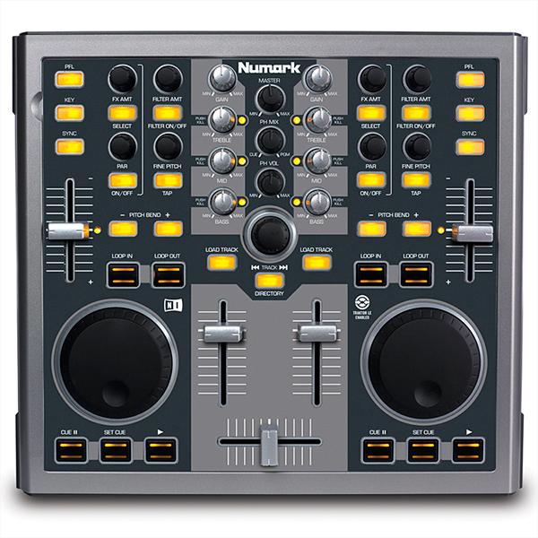 NUMARK TOTAL CONTROL Portable Performance Controller, Next-Generation DJ Machine Play, Mix, Perform and Scratch Your MP3 Files like Vinyl Records, DJ-soittolaite, jolla teet tietokoneestasi DJ-aseman