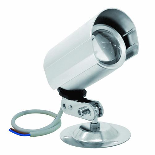 EUROLITE LED seinävalaisin 12V 1x3W punainen LED. Aukeamiskulma Beam angle: approx. 30° käännettävissä n.360°. Mitat 135 x 83 x 140 mm sekä paino 0,35kg.