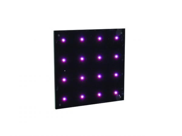 EUROLITE LED Pixel Spot 16 DMX LED Pikselipaneeli, seinät elämään tällä paneelilla. Mitat 400 x 250 x 162 mm  sekä paino 1,8kg.