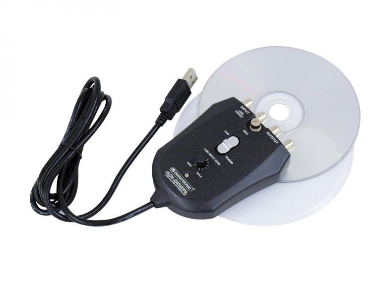 OMNITRONIC ADI-002PL äänikortti eli Ääntä ulos ja sisään tietokoneelta,USB Phono-PreAmp/Computer Interface for digital recording from line and phono sources, muunna Vinyylit tietokoneellesi! Voit tallentaa vaikka vanhat kasetit sekä vinyylit suoraan tietokoneelle tällä ADI-002 USB interfacella! Voit liittää levysoittimen suoraan tietokoneeseen.
