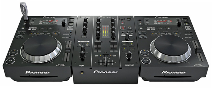 CDJ-350 Compact Digital Multi-Player & DJM-350 2 Channel DJ Mixer with USB recording