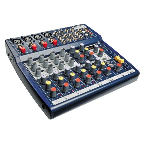 SOUNDCRAFT Notepad 124FX pikkumikseri 4 mono-/ mikrofonikanavaa ja 4 stereokanavaa, efektilaitteella!