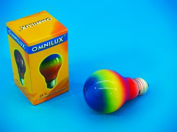 OMNILUX A19 230V/40W E-27 multicolor, discoland.fi